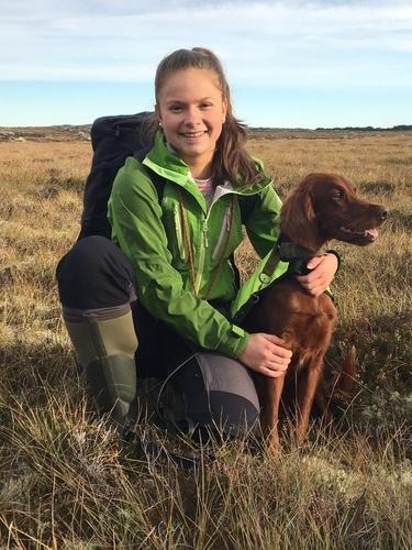 Vilde Mandal Johansen (15 år) førte Einunndalens B-Abby til en flott 2.AK i sin debut, med 3 fuglearbeid uten reis!