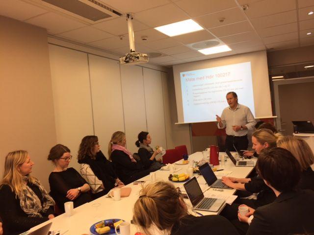 Kjell Røynesdal fra Helse- og omsorgsdepartementet på nasjonalt TOO møte 2017