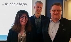 Fra venstre: Rita Kristensen, John Rørnes og Hugo Thode Hansen