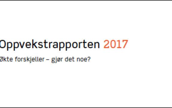 Ingressbilde til Oppvekstrapporten 2017