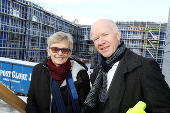 Seksjonsleder Aud-Helene Dragland og avdelingsdirektør Trond Brattland.