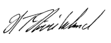 Signaturen til Hans Tore Høviskeland