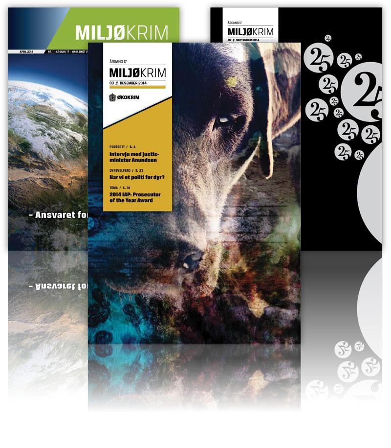 Bilde av tre magasiner