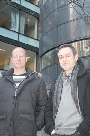 Miljøkontakt Arne Køste og miljøkoordinator Brian Wenneberg, Oslo politidistrikt. Foto: Kenneth Didriksen