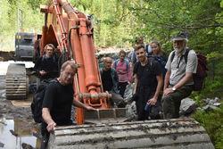 Naturvernforbundets aksjon mot bygging av Dammyrdalsveien startet 13. juni. Foto: TNC/Naturvernforbundet.