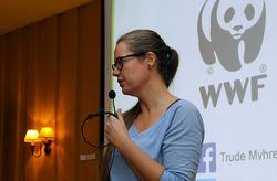 Trude Myhre er skogbiolog i WWF og gikk til fots fra Oslo til Trondheim for å skape mer oppmerksomhet om det viktige skogvernet. Foto: ØV.