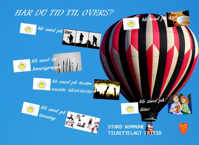 Illustrasjonsbilde med ballong, Tilrettelagt fritid