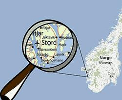 Norgeskart med Stord