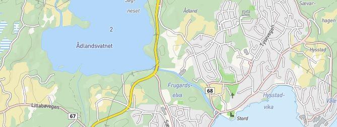 Utsnitt av kart over Stord