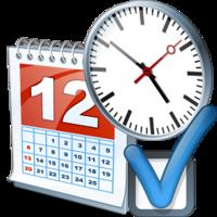 Kalender med klokke