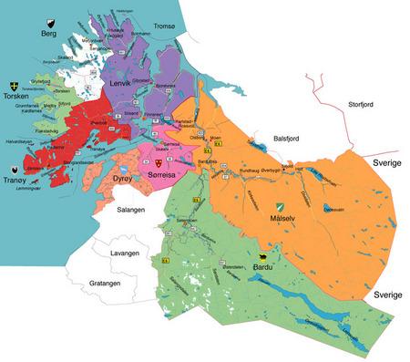 tranøy kart Kart over Midt Troms   Midt Troms regionråd tranøy kart