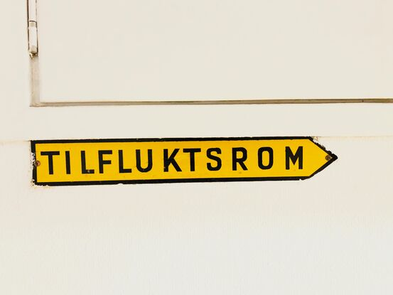 Tilfluktsrom. Foto: Øivind Arvola