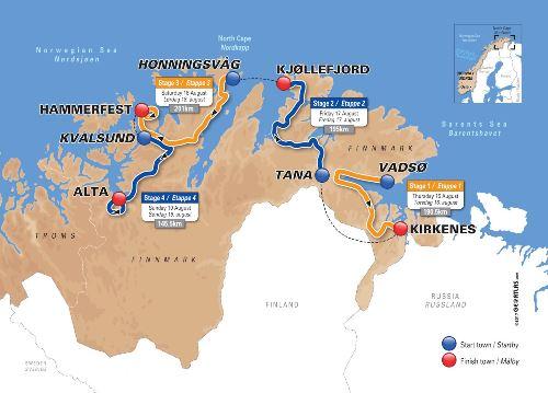 Kart Tana-Kjøllefjord
