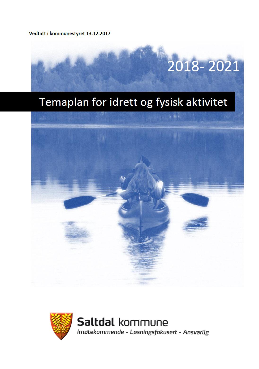 Forside temaplan for idrett og fysisk aktivitet 2018 2021