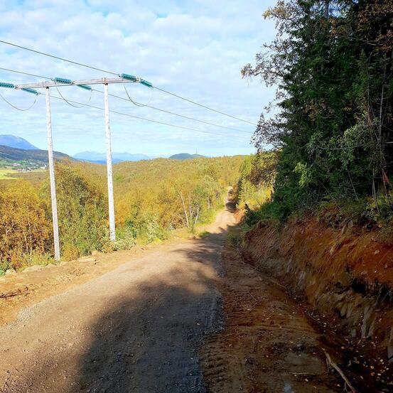 Fjellveien er utvidet og oppgradert. Foto: Eli-Jeanette Olsen