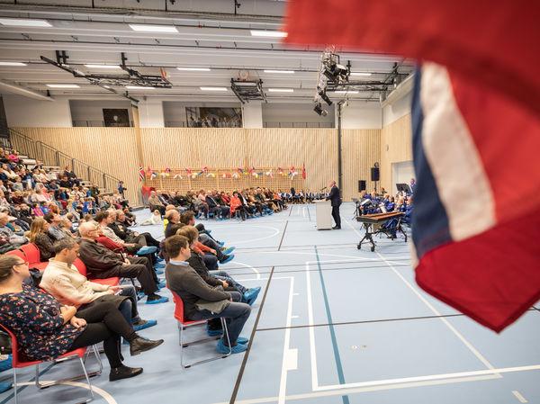 Åpnings av Harstad skole. Foto: Øivind Arvola