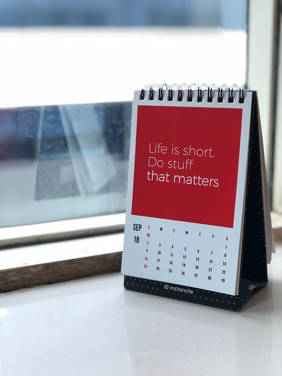 Bilde av en bordkalender