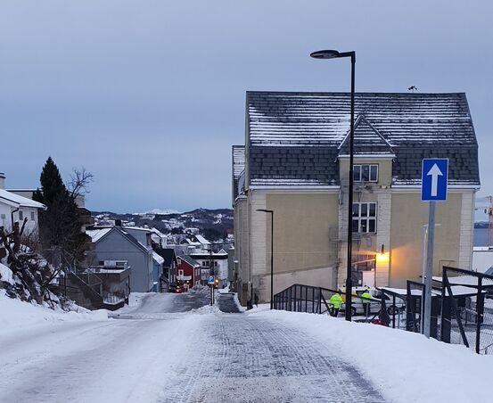 St Olavs gate ved Harstad skole