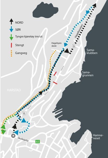 Kart Hagebyveien des 2018