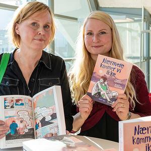 Forfatter Monika Steinholm og illustrastør Anneli Furmark.
