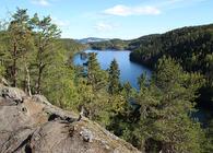 Utsikt over Lutvann. Foto: Bente Lise Dagenborg.