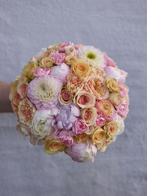 Interflora anne maries blomster, bryllup, brudebukett, husnes, kvinnherad, fersken