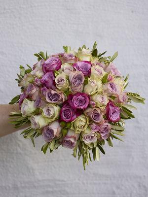 Interflora anne maries blomster, brudebukett, roser, bryllup