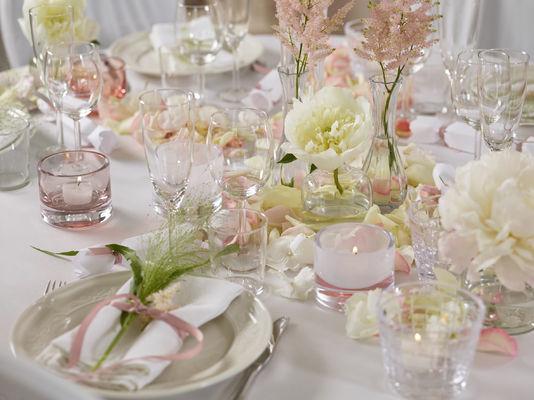 Interflora anne maries blomster, bryllup, borddekor