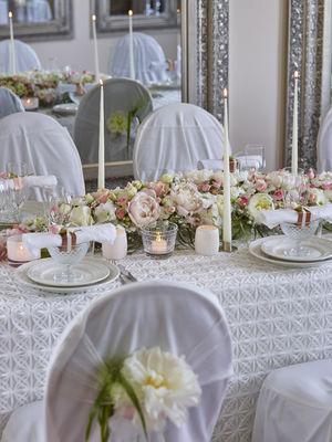 Interflora anne maries blomster, bryllup, borddekor, husnes
