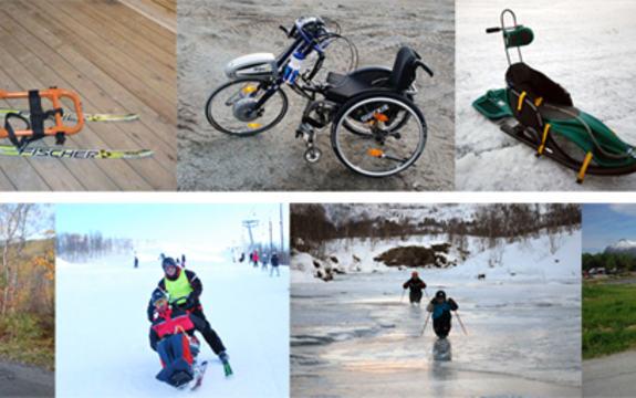 Bilder av ulike aktivitetshjelpemidler