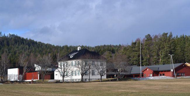 På bildet vises Buskerud skole sett utenfra.