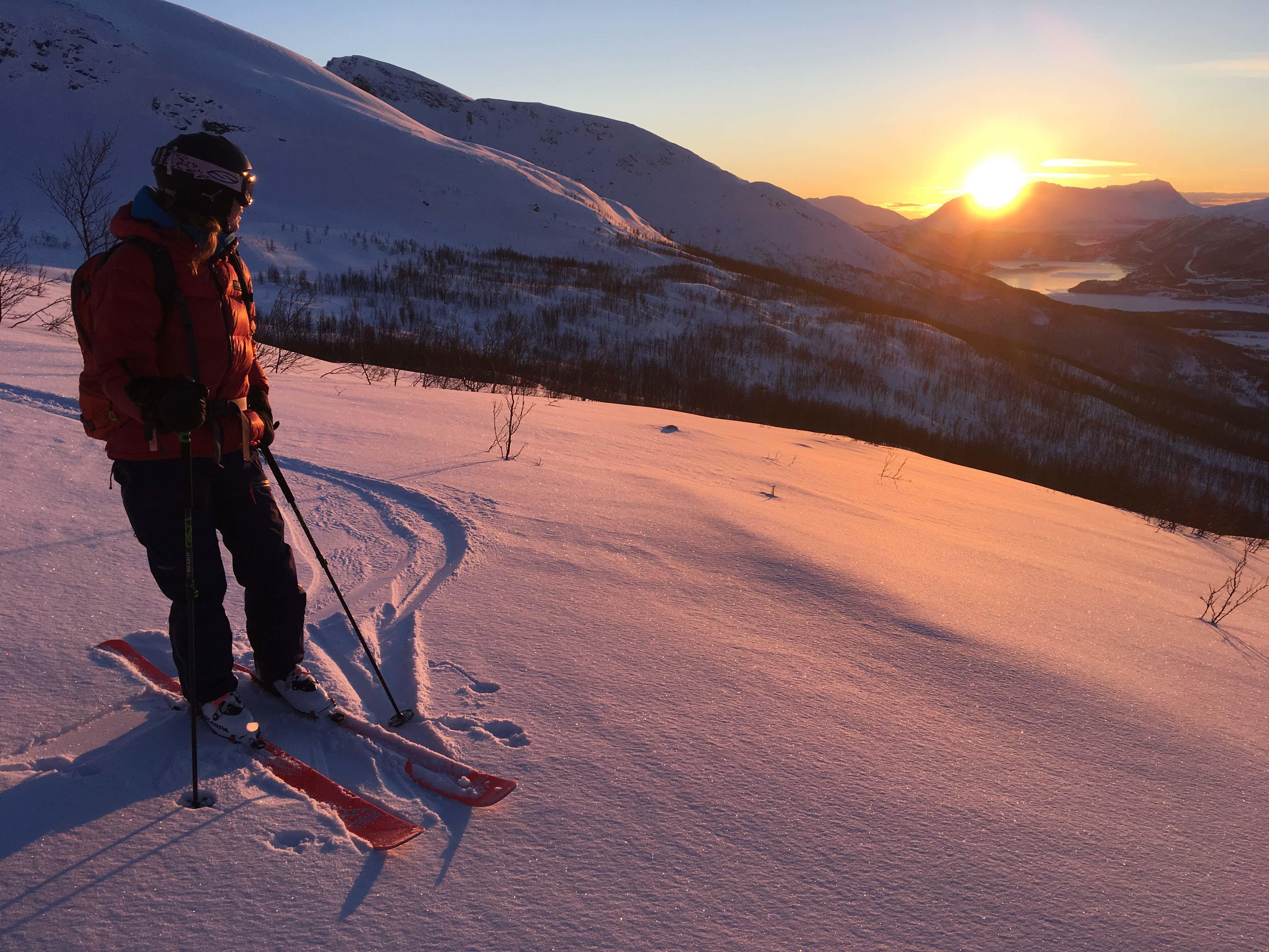 Lege på skitur