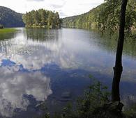 Lutvann er et av de klareste vannene i Østmarka. Foto: Bente Lise Dagenborg.