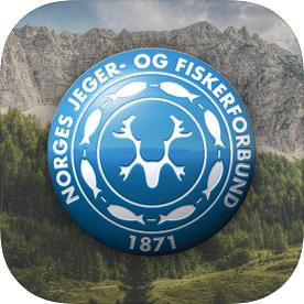 Applogoen til Norges jeger- og fiskerforening
