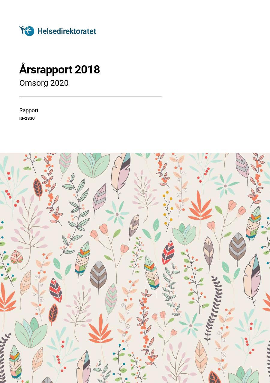 Omslagsbilde av årsrapporten 2018 for Omsorg 2020