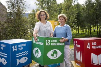 Ordfører Kristin Røymo og rektor Anne Husebekk ved UiT Norges arktiske universitet gleder seg til Bærekraftsdagene. Foto: UiT