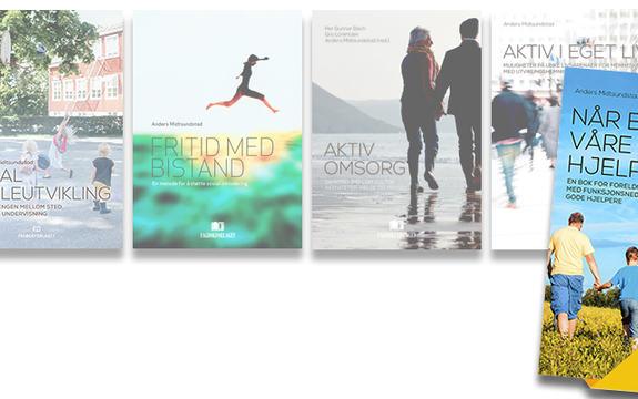 Bilder av bøkene i bokserien vår