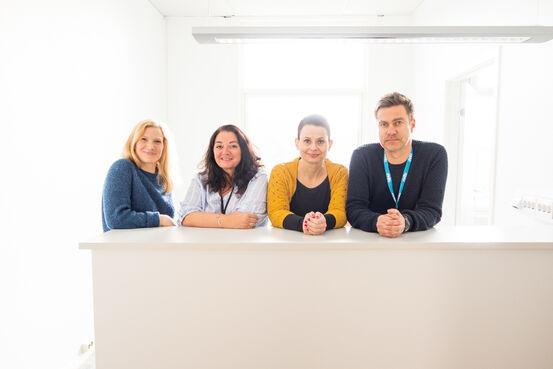 Linda Solheim Martinsen, Elin Nilssen, Elisabeth Cecilie Bergland Bartholsen og Knut-Ivar Robertsen