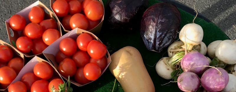 Torgsal av grønsaker