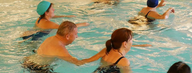 Trening i basseng - foto