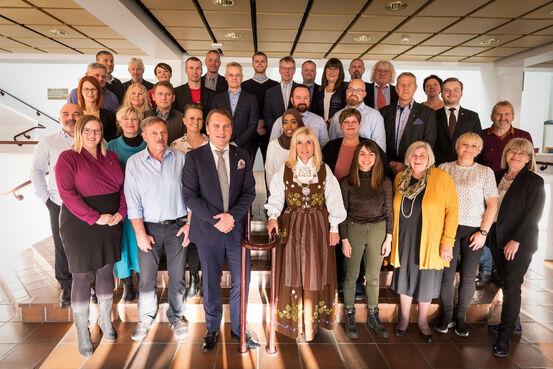 Det nye kommunestyret. Foto: Øivind Arvola