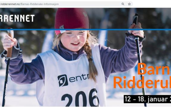 Illustrasjonsbilde til Barnas ridderuke - en liten jente som går på ski
