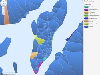 Oversiktskart boligområder