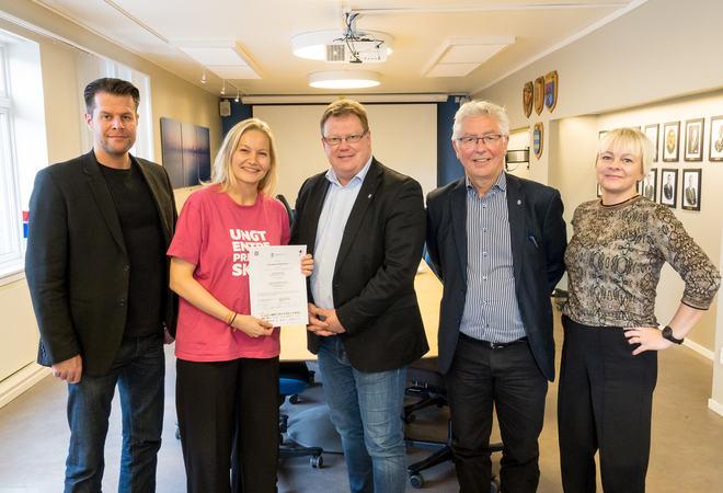 Per-Åge Nygård, Liv Brandvoll, Hugo Thode Hansen, Henry Andersen og Nina Dons-Hansen. Foto: Øivind Arvola