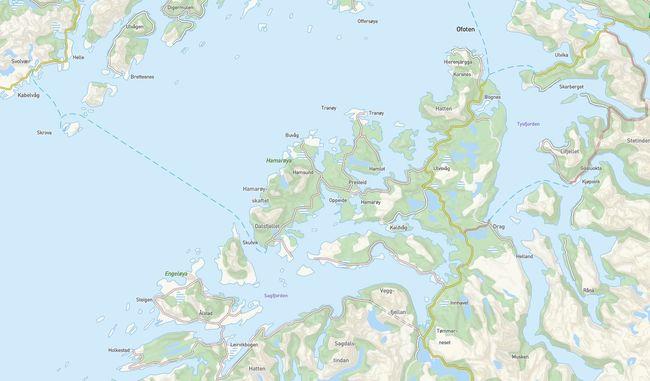 Kart Hamarøy