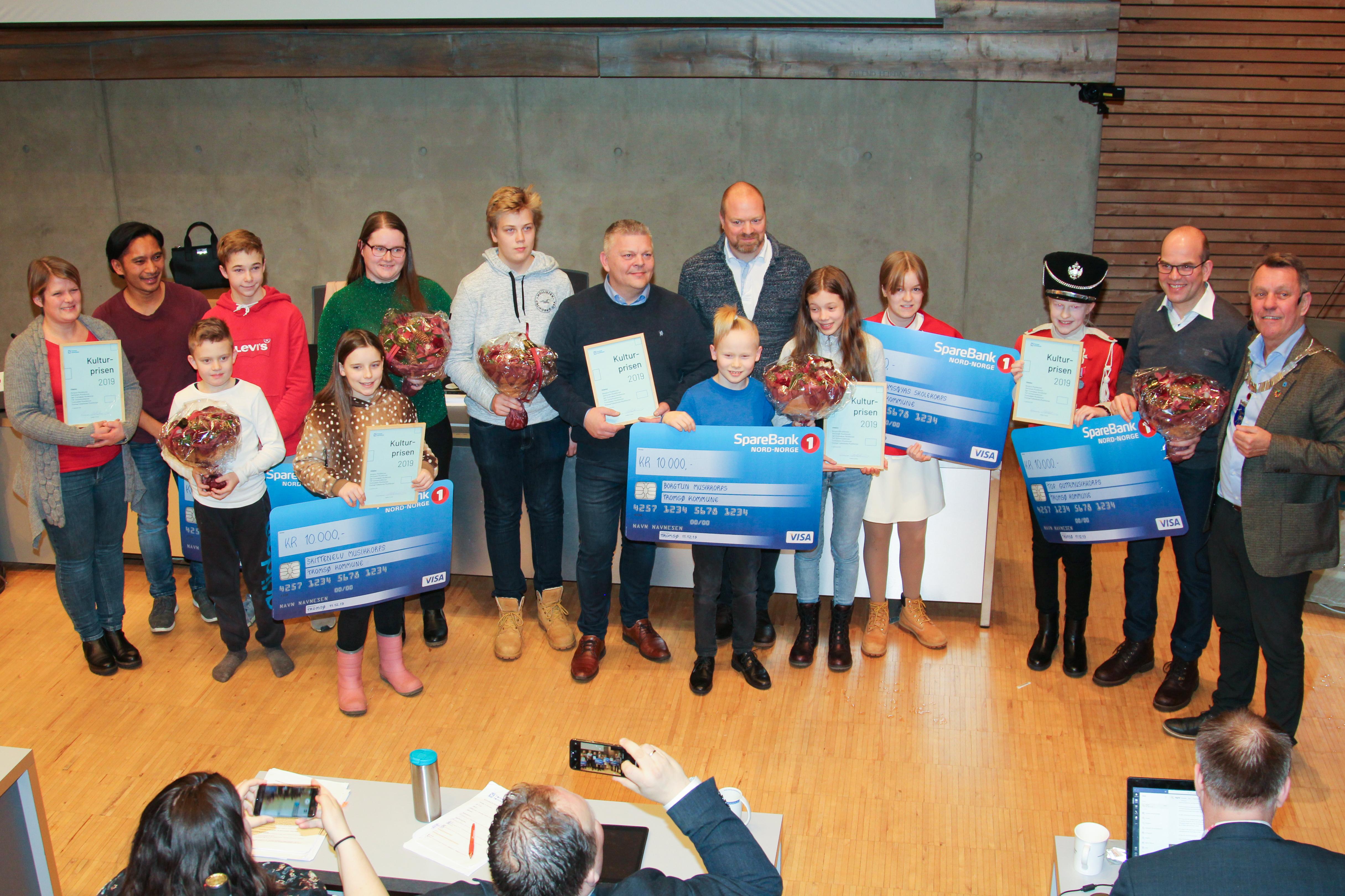 Korpsene i Tromsø som vant kulturprisen 2019 på deling