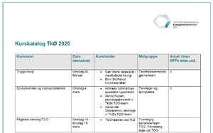 Bilde av kurskatalog 2020