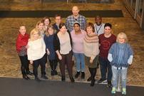 Noen av de ansatte ved Flyktningtjenesten i Tromsø kommune. Fotografert januar 2020.