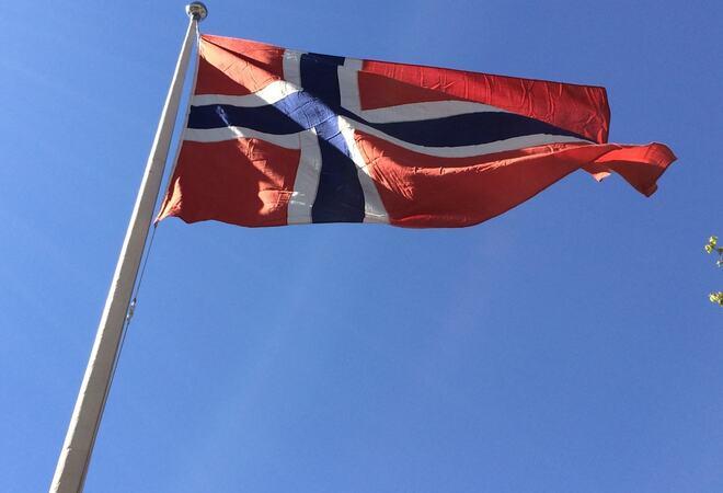 Flagget til topps Foto: