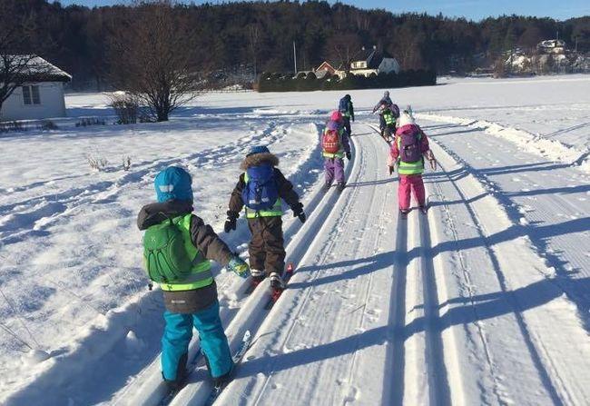 På ski Foto: